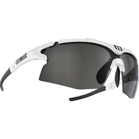 Bliz Tempo M12 Lunettes, white/smoke with silver mirror